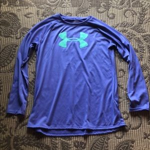 Girls Under Armour purple long sleeve